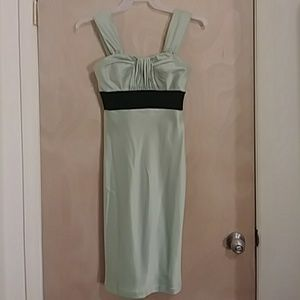 Camile lavic mint green and black dress